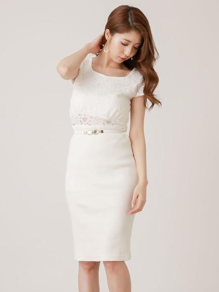 ac9037533e6c8 フレンチスリーブレースワンピース - blanc Closet│ブランクローゼット ...